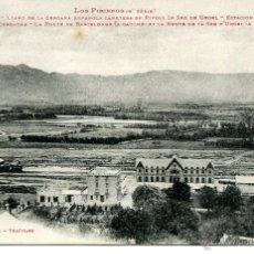 Postales: PUIGCERDA-Nº 200- ESTACIÓN FERROCARRIL Y TREN-LABOUCHE-. Lote 55034012