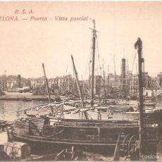 Postales: BARCELONA PUERTO VISTA PARCIAL. Lote 140003837