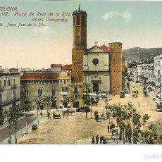 Postales: POSTAL DE SARRIÀ (BARCELONA) -PLAZA PRAT DE LA RIBA- AÑOS 20'. Lote 70424073
