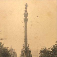 Postales: BARCELONA- MONUMENTO DE COLON-573 HAUSER Y MENET,SIN DIVIDIR. Lote 55865453