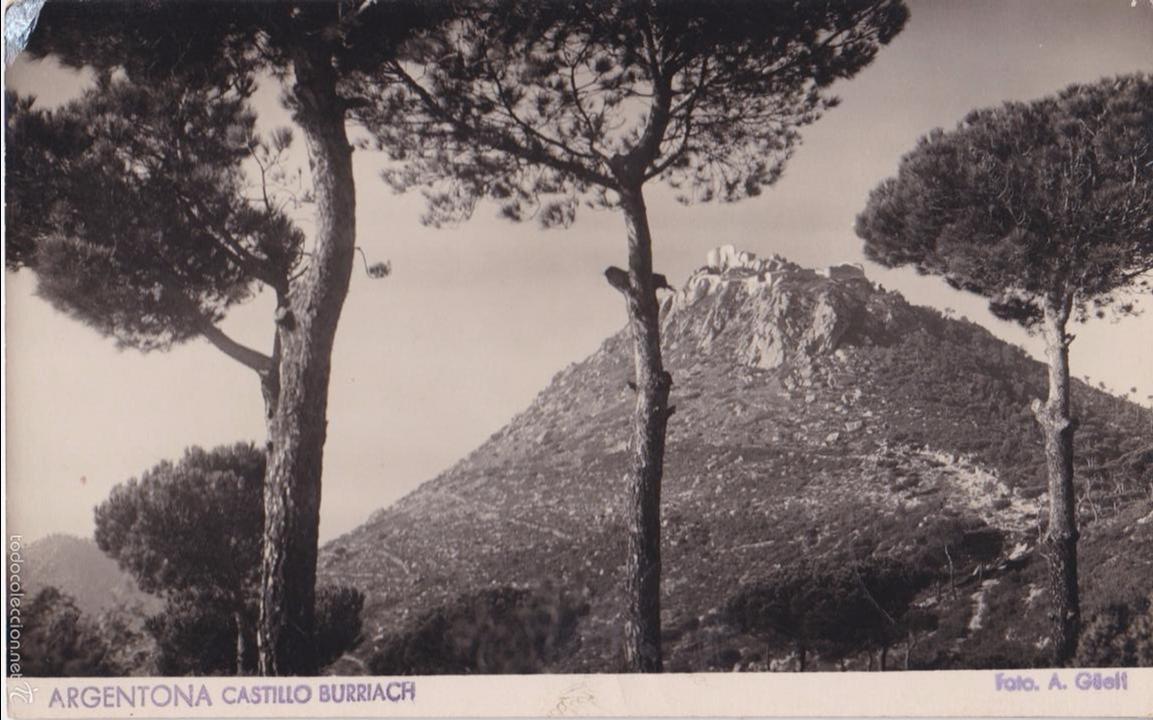 P- 4898. POSTAL ARGENTONA. CASTILLO BURRIACH. FOTO A. GÜELL. (Postales - España - Cataluña Moderna (desde 1940))