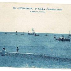 Postales: PS6590 LLORET DE MAR 'STA. CRISTINA. TORNADA A LLORET'. L. ROISÍN. PRINC. S. XX . Lote 55900509
