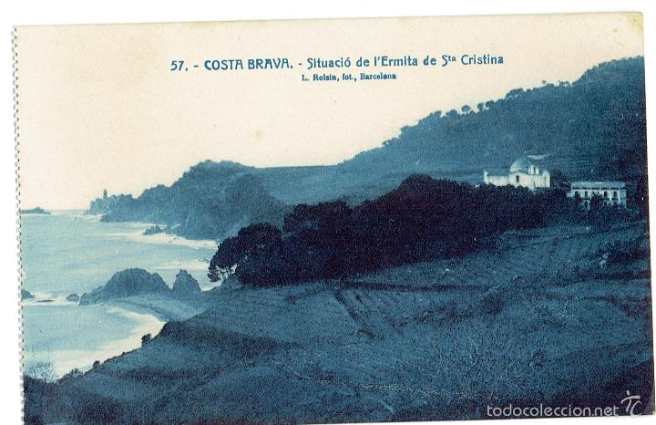 PS6591 LLORET DE MAR 'STA. CRISTINA. SITUACIÓ DE L'ERMITA'. L. ROISÍN. PRINC. S. XX (Postales - España - Cataluña Antigua (hasta 1939))