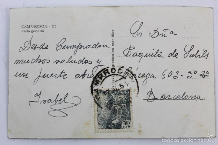 Postales: P-4933. CAMPRODON. VISTA GENERAL. CIRCULADA. AÑO 1953. - Foto 3 - 55927122