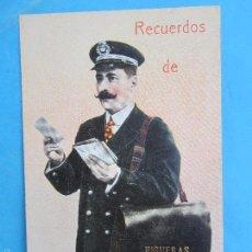 Postales: CARTERO VISELADO , RECUERDOS DE FIGUERAS , UNION POSTALE UNIVERSELLE , AÑOS 20-30. Lote 55981215
