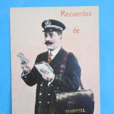 Postales: CARTERO VISELADO , RECUERDOS DE VENDRELL , UNION POSTALE UNIVERSELLE , AÑOS 20-30. Lote 55981792