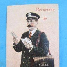 Postales: CARTERO VISELADO , RECUERDOS DE VALLS , GERONA , UNION POSTALE UNIVERSELLE , AÑOS 20-30. Lote 148190894