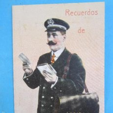 Postales: CARTERO VISELADO , RECUERDOS DE LERIDA , UNION POSTALE UNIVERSELLE , AÑOS 20-30. Lote 60649305