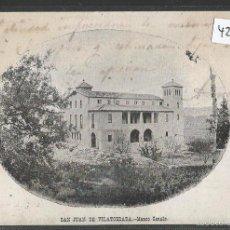 Postales: SAN JUAN DE VILATORRADA - MANSO CANALS - REVERSO SIN DIVIDIR - (42.641). Lote 55992678