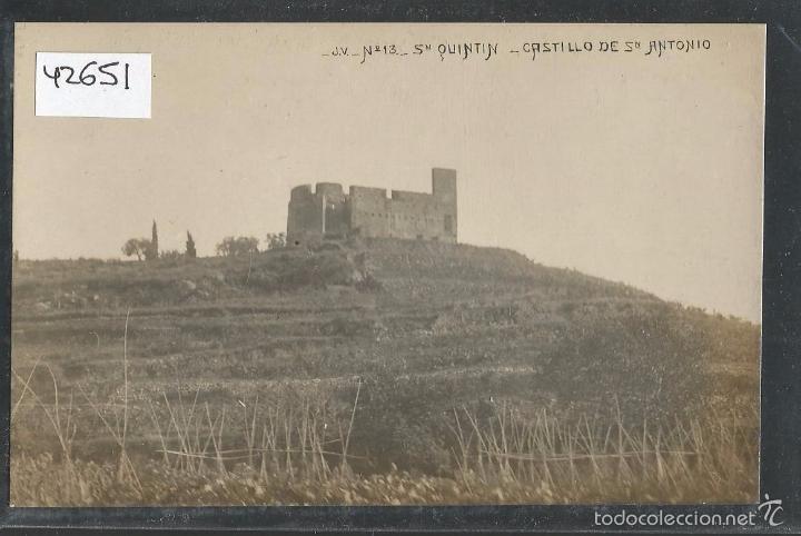 SANT QUINTI DE MEDIONA - SAN QUINTIN DE MEDIONA -FOTOGRAFICA J. V. 13- CASTILLO DE SAN ANT- (42.651) (Postales - España - Cataluña Antigua (hasta 1939))