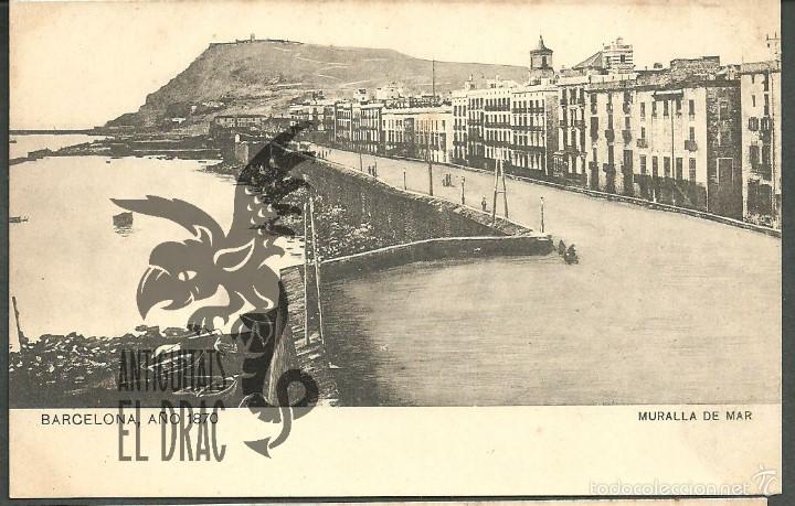 BARCELONA AÑO 1870. MURALLA DEL MAR. SANSOT Y MISSÉ HNOS, BARCELONA SIN CIRCULAR (Postales - España - Cataluña Antigua (hasta 1939))