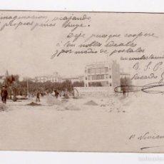 Postales: PLAZA CATALUÑA EN CONSTRUCCIÓN. CASA ROSICH. TUPINAMBA. LAS TINAJAS. ORTIZ & CUSSÓ. CIRCULADA, 1902. Lote 56459888