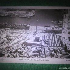 Postales: POSTAL - ESPAÑA - BARCELONA - 2 DESDE AVIÓN - PUERTA DE LA PAZ Y COLÓN - CLICHÉ C.E.A. - 1929 NUEVA. Lote 56469496