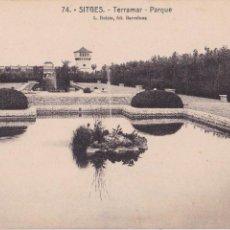 Postales: P- 5274. POSTAL SITGES. TERRAMAR, PARQUE. Nº 74 L. ROISIN.. Lote 56631508