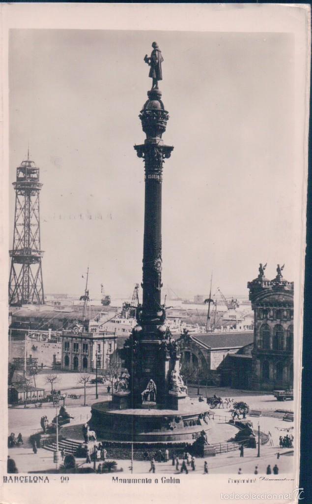 POSTAL BARCELONA- 90. MONUMENTO A COLON.CIRCULADA. (Postales - España - Cataluña Antigua (hasta 1939))