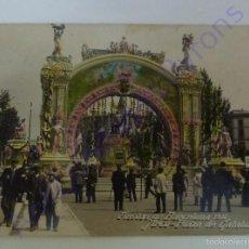 Postales: FIESTAS DE BARCELONA. 1910. ARCO PLAZA DE CATALUÑA. . Lote 56959573