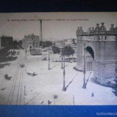 Postales: POSTAL - ESPAÑA - 42 BARCELONA - ARCO DEL TRIUNFO Y FÁBRICA DE ELECTRICIDAD - MISSE Hº BARNA - NUEVA. Lote 56963033