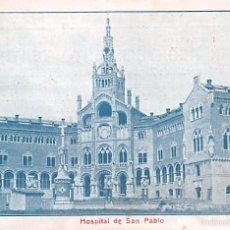 Postales: BARCELONA.- HOSPITAL DE SAN PABLO. Lote 57011040