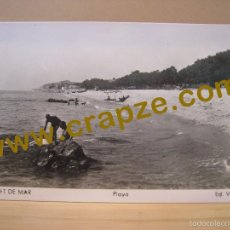 Postales: CANET DE MAR: PLAYA - VILA - FOTO POSTAL ORIGINAL. Lote 57151693
