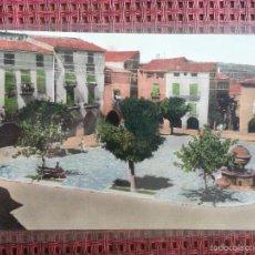 Postales: POSTAL PRADES 10 PLAÇA MAJOR BROMO CROM NUEVA SIN CIRCULAR. Lote 57204964