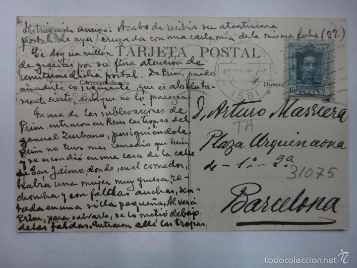 Postales: REUS, TARRAGONA, PLAZA DE PRIM , P31.075 - Foto 2 - 15610672