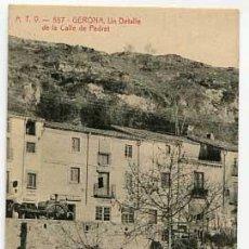 Postales: GERONA UN DETALLE DE LA CALLE DE PEDRET ATV ANGEL TOLDRA VIAZO 557. SIN CIRCULAR. Lote 175453294
