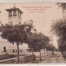 Postales: ANTIGUA POSTAL HOSTALETS DE PIEROLA PASSEIG CARRER SAINT ANTONI L ROISIN. Lote 57242088