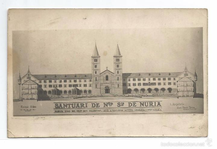 SANTUARI DE NURIA .- FAÇANA NORD DEL GRAN PATI .- ARQUITECTE JOSEP DANÉS TORRAS (Postales - España - Cataluña Antigua (hasta 1939))