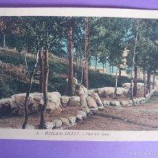 Postales: ANTIGUA POSTAL DE, LA POBLA DE LILLET (BARCELONA) - FONT DEL ROURE - FOTO L. ROISIN -... R-2842. Lote 57401517
