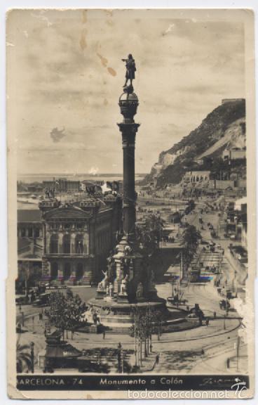 BARCELONA 74-MONUMENTO A COLON (Postales - España - Cataluña Antigua (hasta 1939))