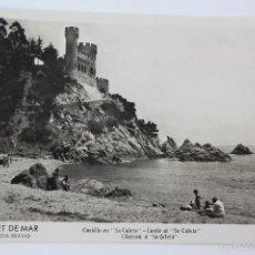 Postales: P-5869. LLORET DE MAR. CASTILLO EN SA CALETA. FOTO MARTINEZ. CIRCULADA. AÑO 1952.. Lote 57529080