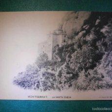 Postales: POSTAL - BARCELONA - MONTSERRAT - LA SANTA CUEVA - J. E. PUIG - FOT- BARNA - SIN ESCRIBIR. Lote 57712539