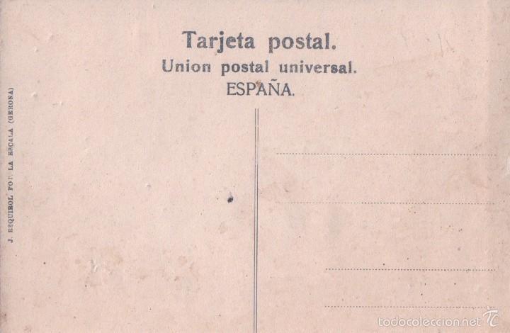 Postales: GIRONA. CASTELLO DE AMPURIAS. PUERTA E LA CATEDRAL. A VILA (ESTANCO). J. ESQUIROL - Foto 2 - 57757309