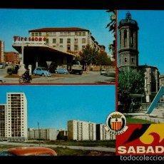 Postales: SABADELL (BARCELONA) Nº 121 TRES VISTAS DE LOS AÑOS 60 - ED.BADALONA-. Lote 57770005
