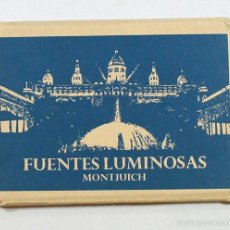 Postales: DESPLEGABLES 12 POSTALES FUENTES LUMINOSAS MONTHUICH BARCELONA 9 X 10,50. Lote 58110024