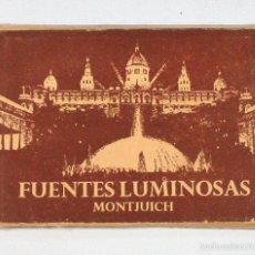 Postales: DESPLEGABLES 14 POSTALES FUENTES LUMINOSAS MONTHUICH BARCELONA 7 X 10,50 POSTAL. Lote 58110076