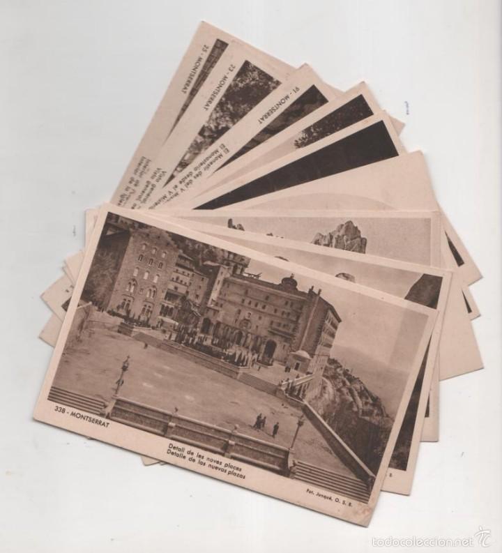 LOTE 9 POSTALES DE MONTSERRAT (Postales - España - Cataluña Antigua (hasta 1939))