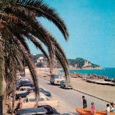lloret de mar - instantanea veraniega 1959 - fournier - seat 600 cabrio vespas citroen traction avan