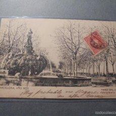 Postales: BARCELONA - AÑO 1870 , PASEO SAN JUAN SAMSOT Y MISSÉ HS. BARNA CIRCULADA REVERSO SIN DIVIDIR 14X9 CM. Lote 58185491