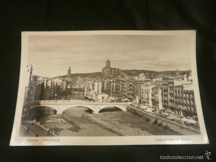 POSTAL GERONA. VISTA PARCIAL. LABORATORIO S. MARTI (Postales - España - Cataluña Moderna (desde 1940))