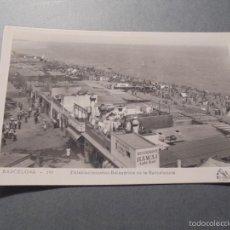 Postales: BARCELONA - 193 . ESTABLECIMIENTOS BALNEARIOS DE LA BARCELONETA RESTAURANTE HAWAI - ORIOL - 14X9 CM.. Lote 58198207