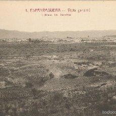 Postales: ESPARRAGUERA, VISTA GENERAL - L.ROISIN FOT. Nº 1 - SIN CIRCULAR. Lote 58259166
