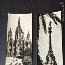 Postales: 2 POSTALES SUPERPANORÁMICAS DE BARCELONA- ZERKOWITZ. Lote 58333724