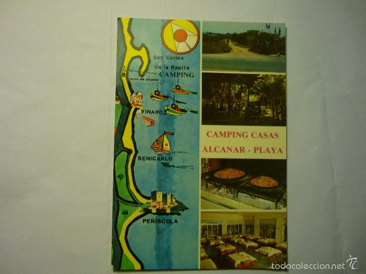 POSTAL CAMPING CASAS .-ALCANAR PLAYA (Postales - España - Cataluña Moderna (desde 1940))