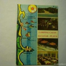 Postales: POSTAL CAMPING CASAS .-ALCANAR PLAYA. Lote 58408076