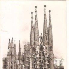 Postales: BARCELONA, TEMPLO SAGRADA FAMILIA, ORIOL, SIN CIRCULAR. Lote 58471766
