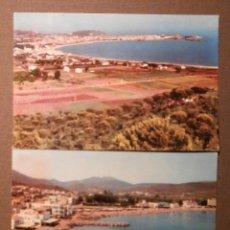 Postales: 2 POSTALES - COSTA BRAVA - GERONA - LLANSA - SAN ANTONIO DE CALONGE Y PALAMOS - ESCRITAS. Lote 58482923