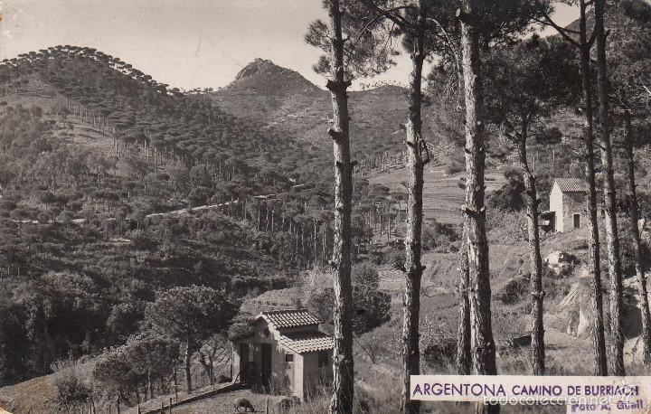 POSTAL FOTOGRÁFICA ARGENTONA -CAMINO DE BURRIACH FOTO A. GÜELL (Postales - España - Cataluña Moderna (desde 1940))