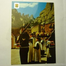Postales: POSTAL MONASTERIO MONTSERRAT- FIESTA VIRGEN PATRONA -MOZOS DE ESCUADRA-ESCRITA. Lote 180093810