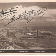 Postales: BARCELONA, VISTA DEL PUERTO Y MONTJUICH, ZERKOWITZ, CIRCULADA. Lote 58836816